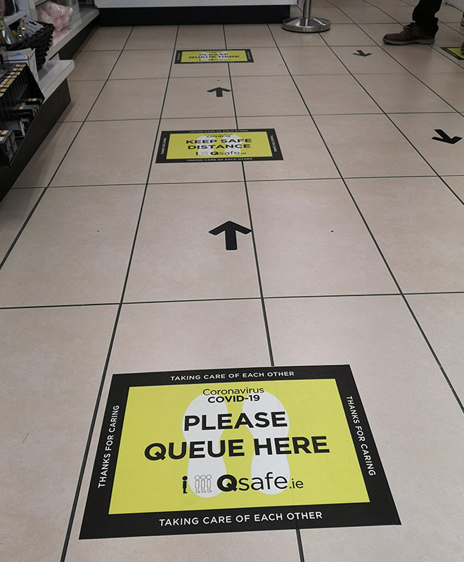 Qsafe Floor Marker In Situ 4