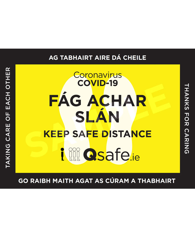 Qsafe Floor Marker Irish 2