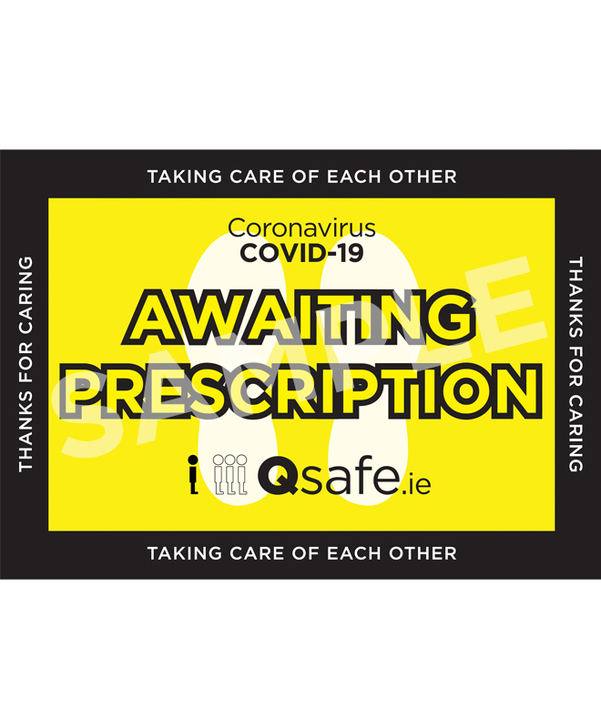 Qsafe Floor Marker Prescription Graphic Sample