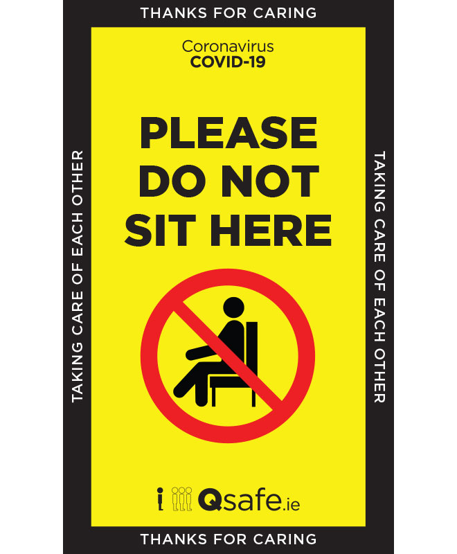 Qsafe Dont Sit Here Sign