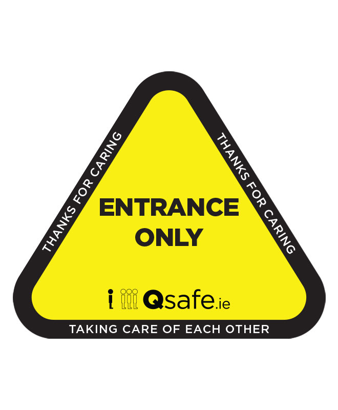 Qsafe Floor One Way Entrance Triangle