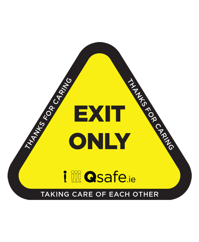 Qsafe Floor One Way Exit Triangle