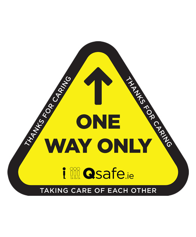 Qsafe Floor One Way Only Triangle