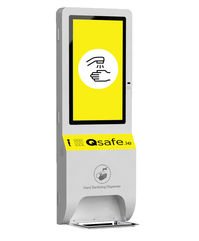 Qsafe Hand Sanitizing Screen