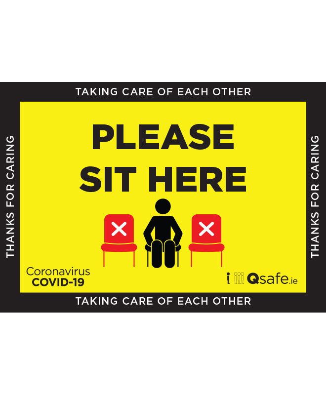 Qsafe Please Sit Here Sign V2