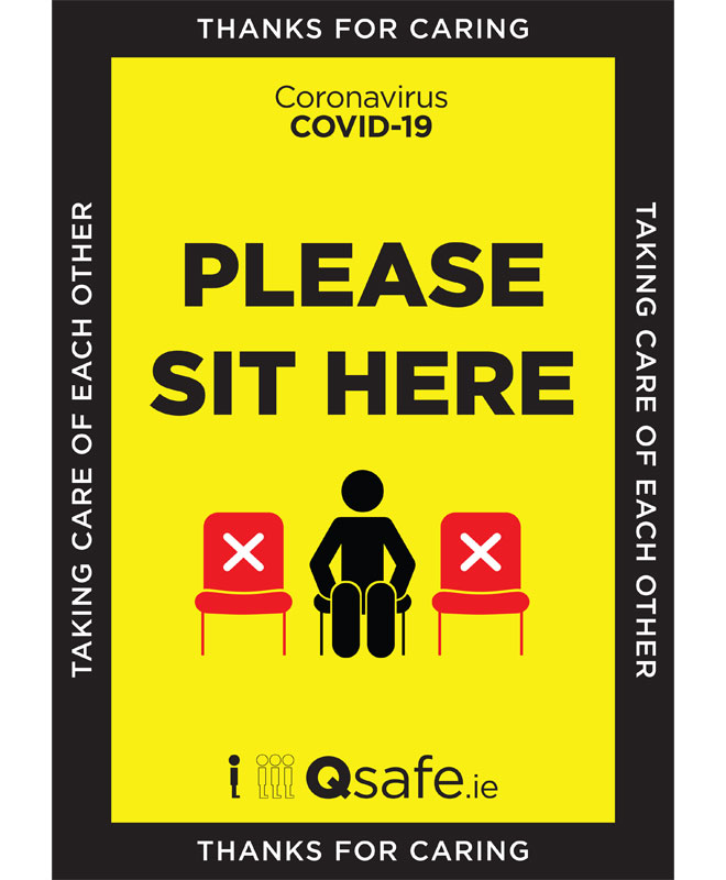 Qsafe Please Sit Here Sign