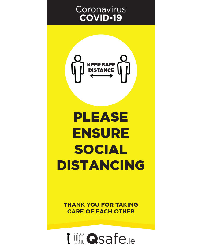 Roll Up Banner Social Distance