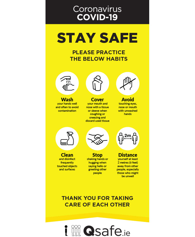 Roll Up Banner Stay Safe